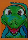Corkie the Croc painting