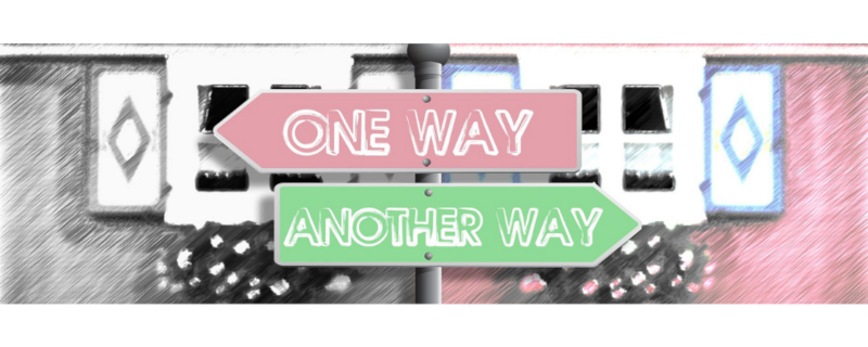 One way or another way signage